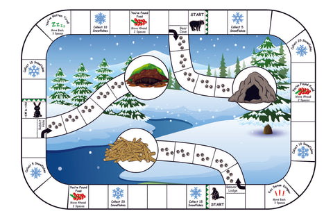 Find a Winter Shelter for your Animal board game