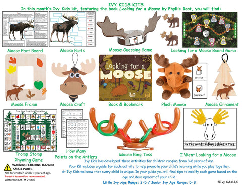 Moose themed activities inspired by Looking for a Moose Book
