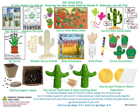 Cactus and desert themed kids STEM activities