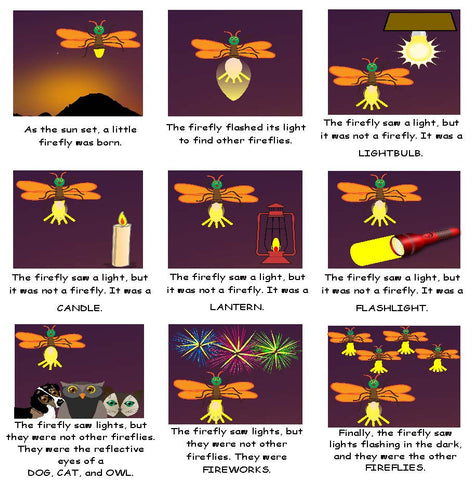 Language Arts Activity Retell the Story of The Very Lonely Firefly by Eric Carle