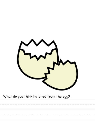 What Animals Hatched? Creative writing activity