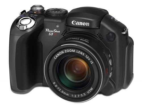 CANON Powershot S3 IS Digital Camera. 6MP, 12x Optical Zoom, 2 inch LCD - Black (Used-Like New)
