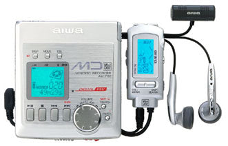 AIWA AM-F75 Portable Minidisc Player - Silver (Used-Like New-Boxed)