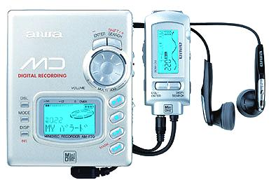 AIWA AM-F70 Portable Minidisc Player - Silver (Used-Like New-Boxed)