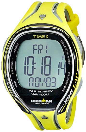 TIMEX Ironman T5K589 Triathlon Sport Watch - Yellow (Used-Like New-Boxed)
