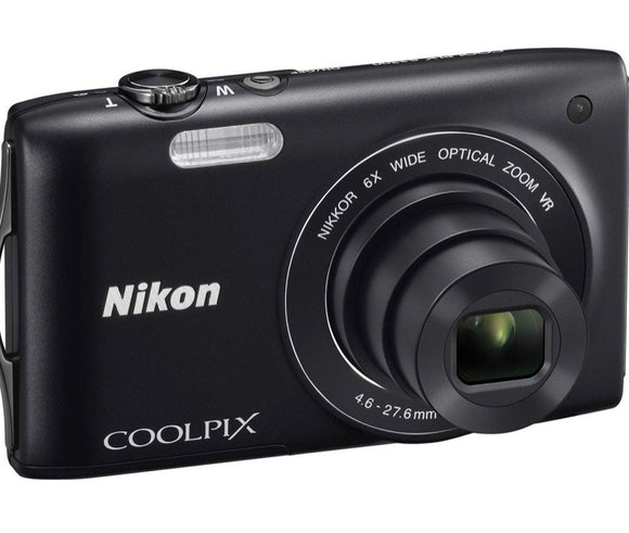 NIKON Coolpix S3300 Digital Camera. 16MP, 6x Optical Zoom, 2.7 inch LCD - Black (Used-Like New-Boxed)