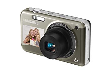 "SAMSUNG PL120 Digital Dual Screen Camera. 14MP, 5x Optical Zoom, 2.7"" LCD - Silver (Used-Like New-Boxed)"