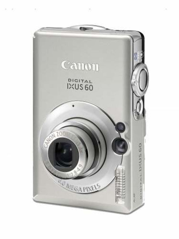"CANON Ixus 60 Digital Camera. 6MP, 3x Optical Zoom, 2.5"" LCD - Silver (Used-Like New-Boxed)"