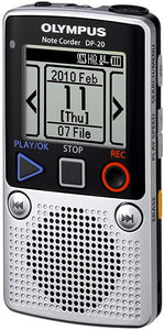 OLYMPUS Note Corder DP-20 Digital Voice Recorder. 1GB - Silver (Used-Like New-Boxed)