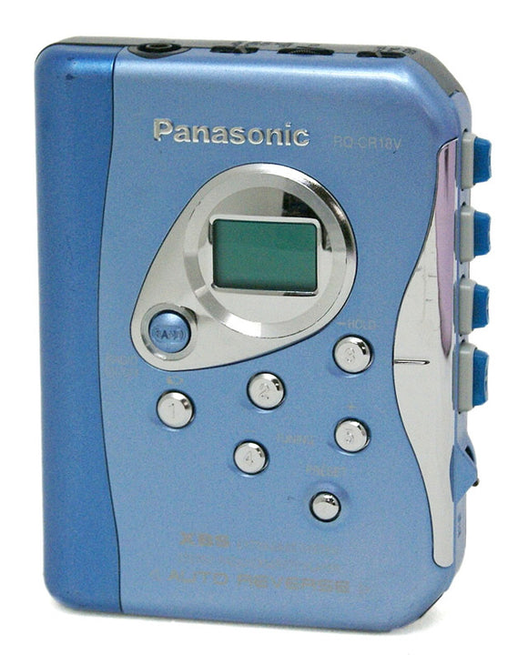 PANASONIC RQ-CR18V Stereo Radio Cassette Player - Blue (Used-VGC)