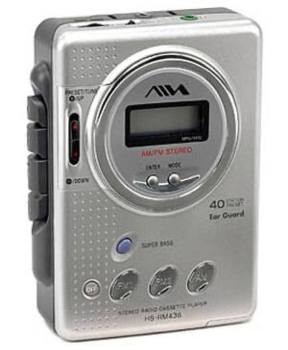 AIWA HS RM436 Personal Radio Cassette Player (Used-Like New-Boxed)