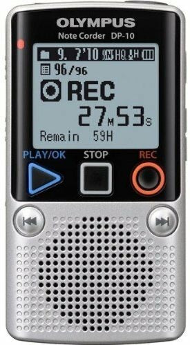 OLYMPUS Note Corder DP-10 Digital Voice Recorder. 1GB - Silver (Used-Like New-Boxed)