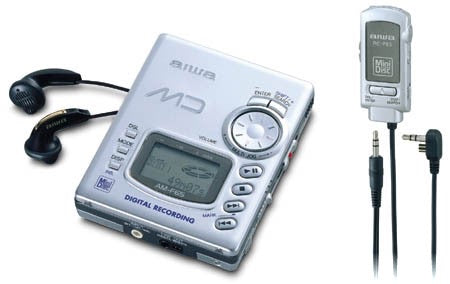 AIWA AM-F65 Portable Minidisc Player - Silver (Used-Like New-Boxed)