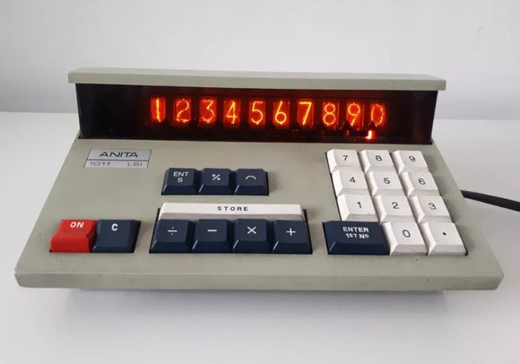 ANITA 1011 LSI Nixie Tube Vintage Desktop Calculator  (Used-VGC)