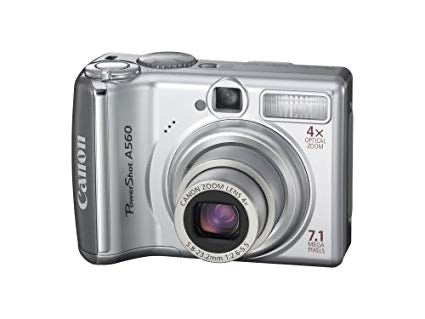 "CANON PowerShot A560 Digital Camera. 7.1MP, 4x Optical Zoom, 2.5"" LCD - Silver (Used-Like New-Boxed)"