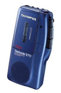 OLYMPUS PearlCorder S711 Microcassette Voice Recorder - Blue (Used-VGC)