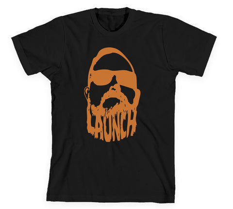 Launch Beard Tee Black/Copper