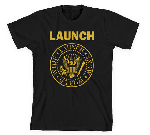 Launch Worldwide Tee Black/Gold