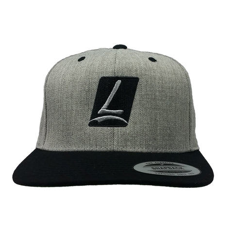 Logo Snapback Heather/Black