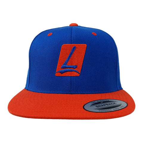 Logo Snapback Royal/Orange