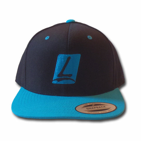 Launch Logo Snapback Black/Teal