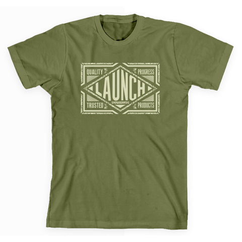 Launch Women's Diamond Tee Light Olive
