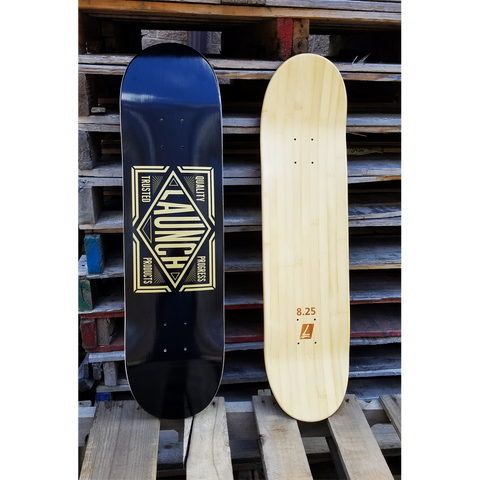 Launch The Inaugural Street Deck Black/Gold 1