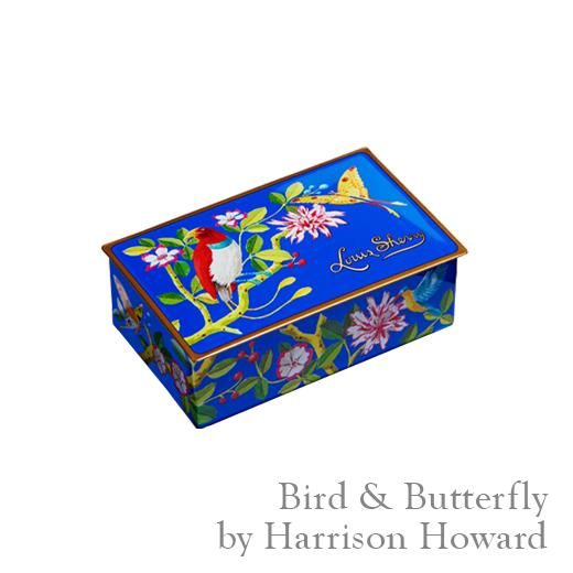 Louis Sherry Bird and Butterfly 2 piece Truffle Tin