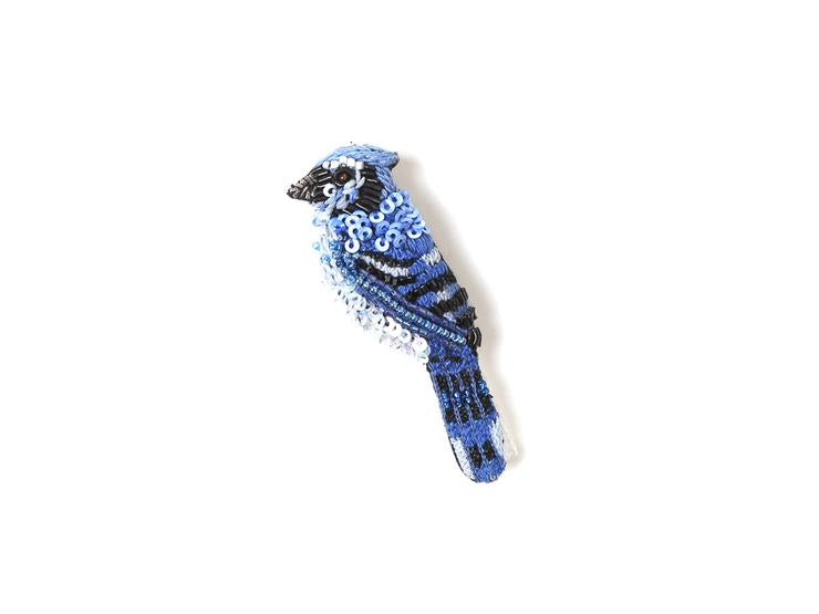 Blue Jay Brooch Pin