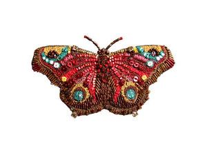 European Peacock Butterfly Brooch