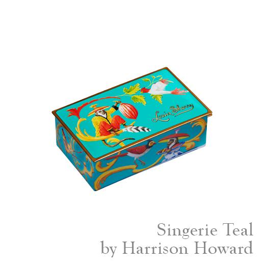 Louis Sherry Singerie Teal 2 piece Truffle Tin