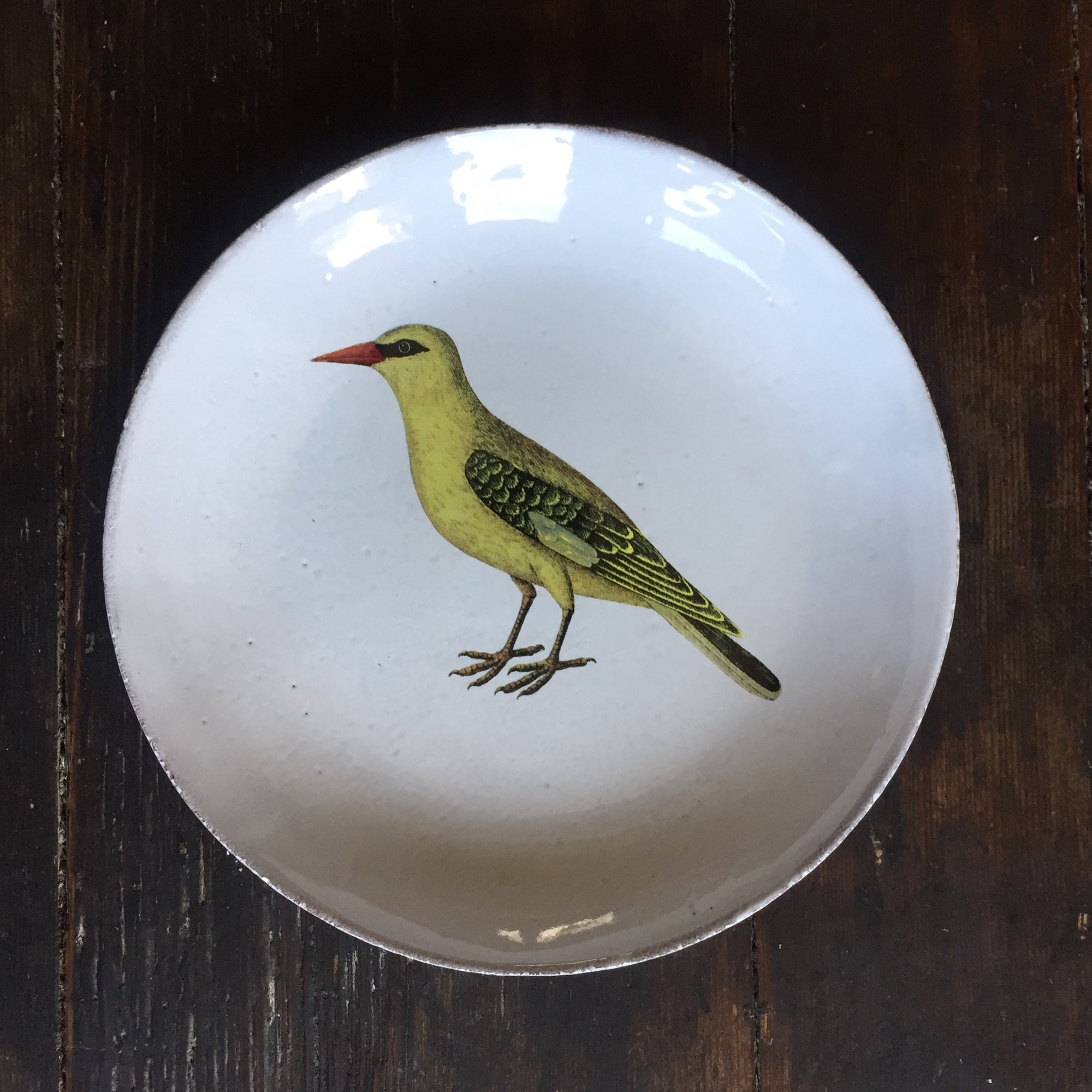 John Derian Yellow Bird Soup Plate