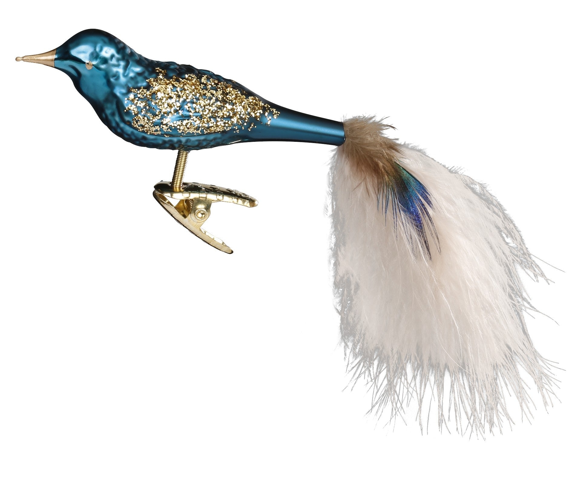 Blue Bird Glass Ornament