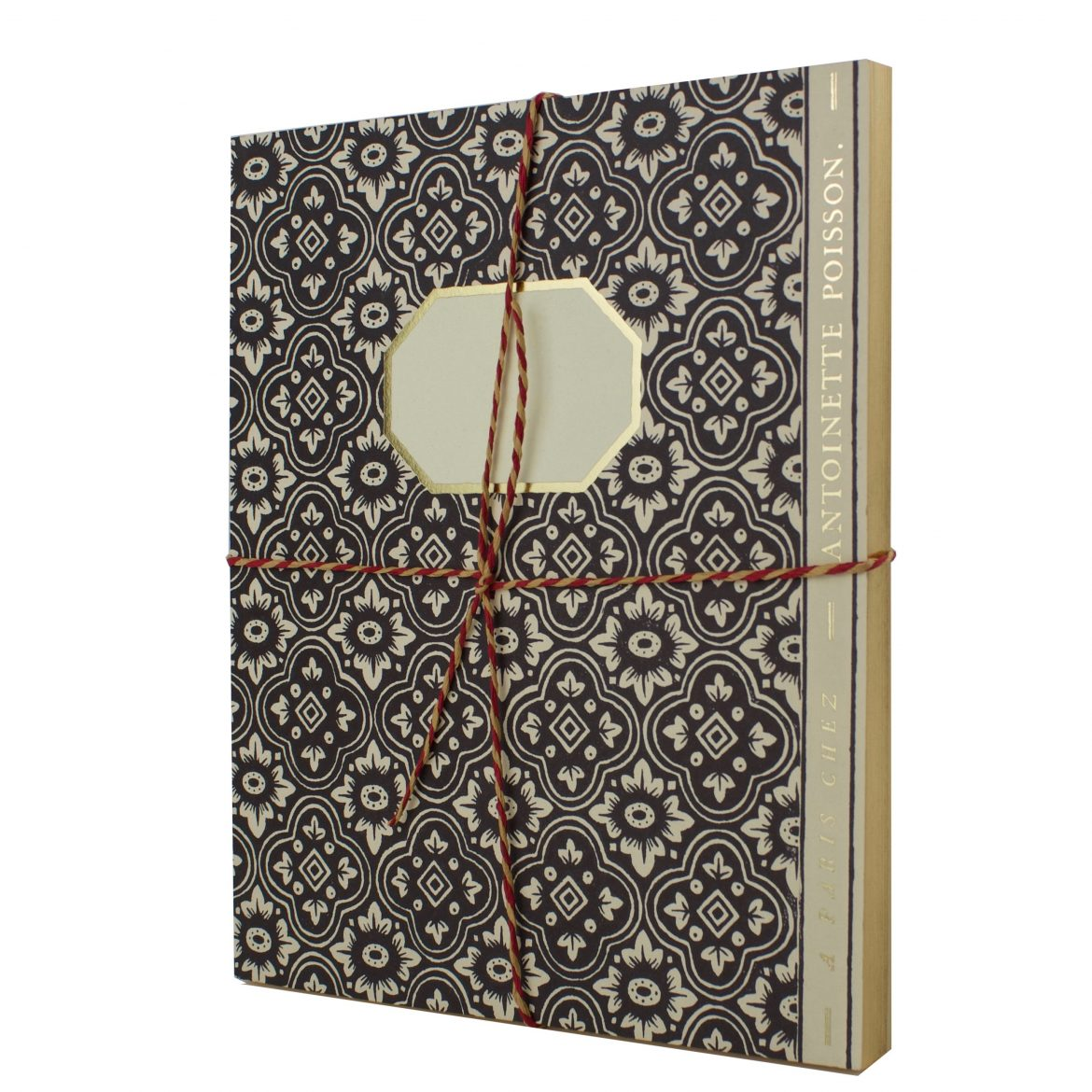 Antoinette Poisson Large Notebook Black