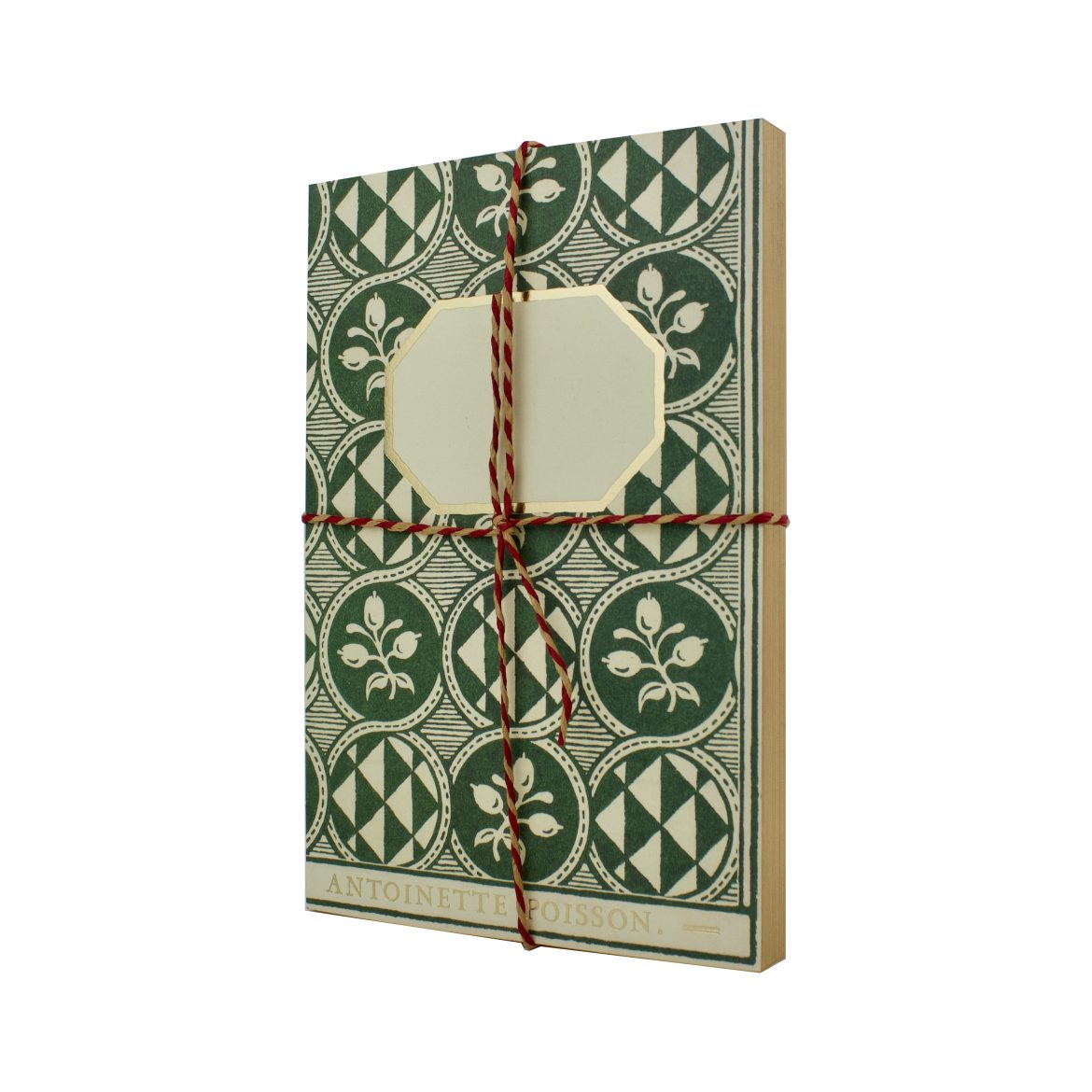 Antoinette Poisson Olives Vert Notebook