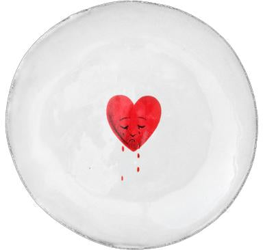 John Derian Crying Heart Saucer