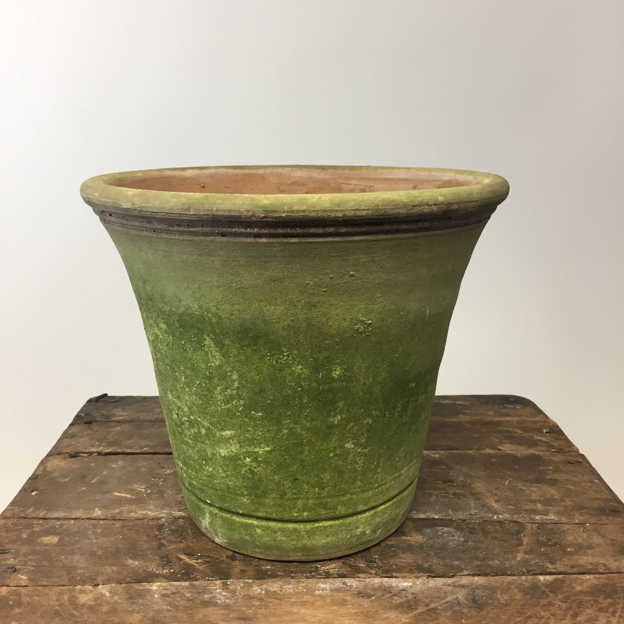 English Nursery Terracotta Planter with Aged Moss. 6""