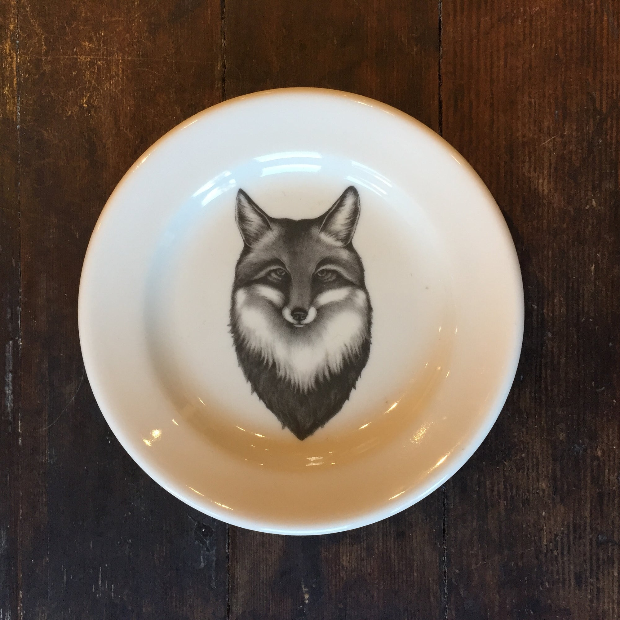 Fox Portrait Bread Plate