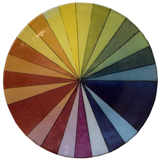 John Derian Color Wheel Platter