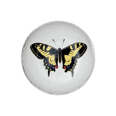 John Derian Yellow Butterfly Dish