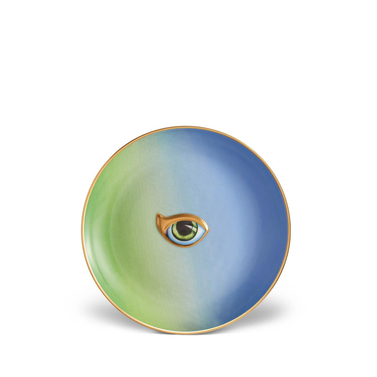 L'objet Lito Eye Plate Green + Blue