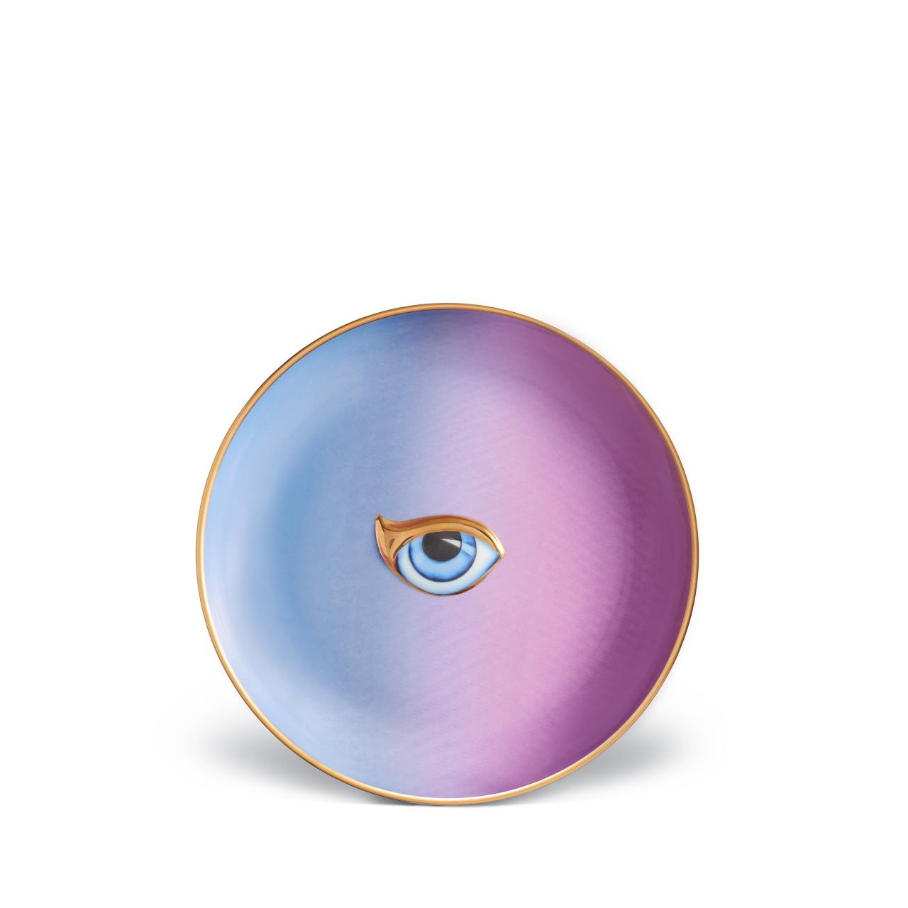 L'objet Lito Eye Plate Blue + Purple