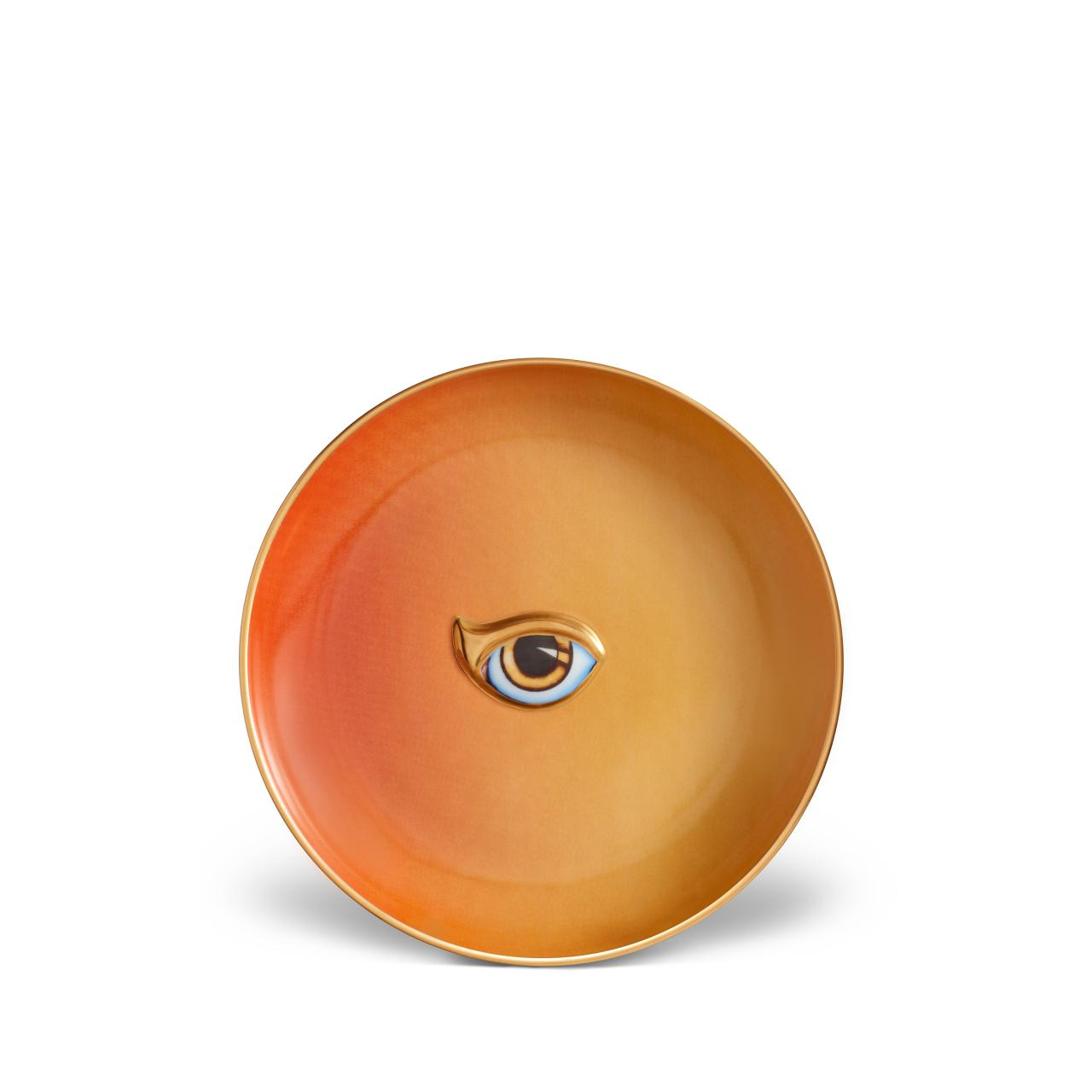 L'objet Lito Eye Plate Orange + Yellow