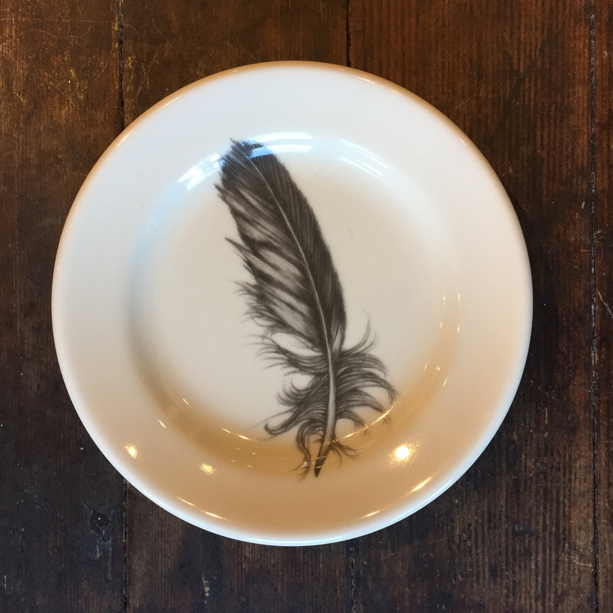 Quail Feather Bread Plate