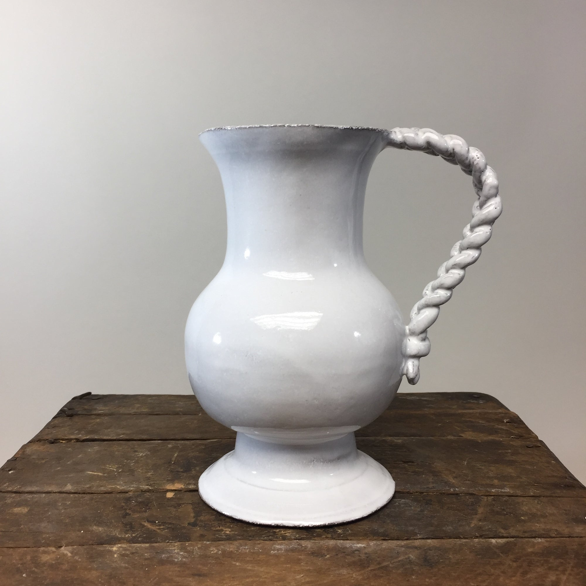 Astier de Villatte Setsuko Pitcher With Braided Handle