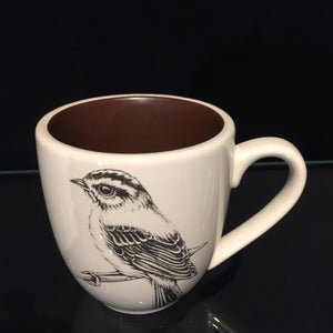 Sparrow Mug by Laura Zindel