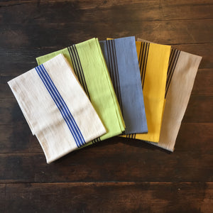Linen Cotton French Tea Towel Bleu