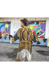 Grateful Dead Kimono - Stardust Gold - Jammin Warrior Collective - Warrior Within Designs ,