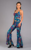 Coral Swirl Tie Dye Engineer Slim Bell Onesie - Jammin Warrior Collective - Warrior Within Designs ,Onesie