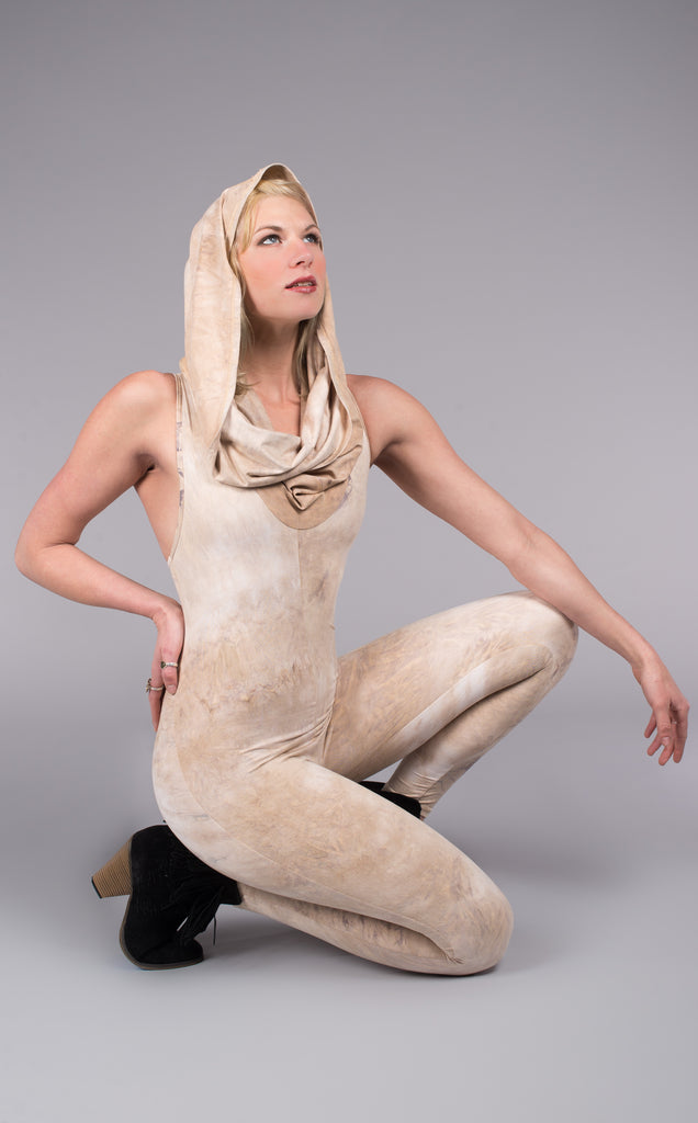 Desert Suede Huntress Ladyhawke Onesie - Warrior Within Designs ,Onesie